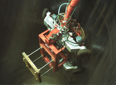 Image of Curved Pipe Cleaning Robot